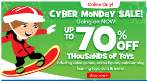 Offer Early Access To Cyber Monday Deals Beginning Sunday Morning. Toys