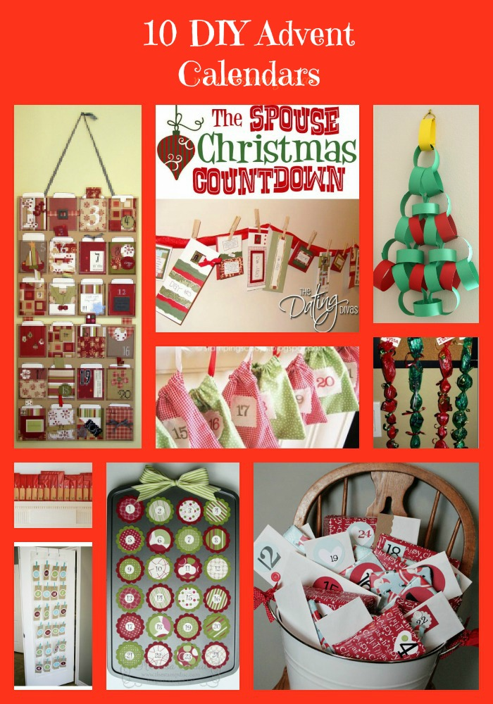 Calendar Advent Diy : Diy christmas advent calendars ideas for easy