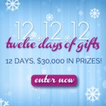 12 Days of Christmas SWEEPS: win new prizes every day!