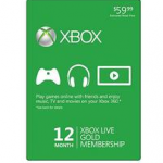 Microsoft XBox Live 12 Month Gold Membership Card for $37.99!