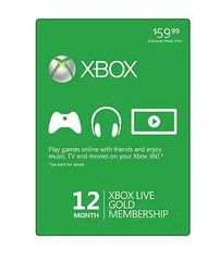 sale on 12 month XBox Live Gold Membership