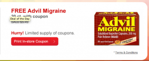 Free Advil Migraine coupon