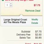 Papa John's 50% off any large pizza!