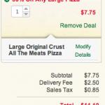 Papa John's 50% off any large pizza!