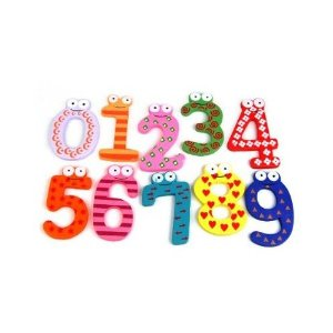 colorful-magnetic-numbers-wooden-fridge-magnets