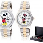 Disney Limited Edition Men's Mickey or Ladies' Minnie Mouse Two-Tone Bracelet Watch for $14.99 each!