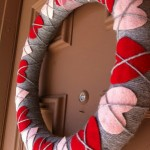 Valentine's Craft: Heart Argyle Wreath