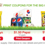 Last Minute Super Bowl Deals:  Lays chips, Coke and Pepsi, and M&Ms!