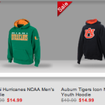 NCAA Fleece Hoodies and Pants only $14.99!
