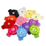 Daisy Flower Crocheted Headbands just $.61 each shipped!