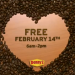 FREE coffee at Denny's today!