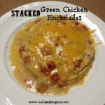Stacked Green Chicken Enchiladas