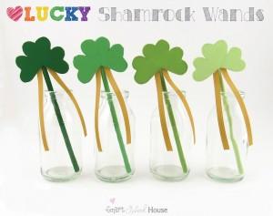 Lucky Shamrock Wands a