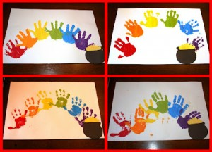 Picnik collage handprint rainbows