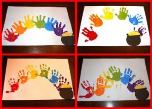 Picnik collage handprint rainbows