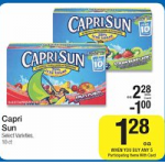 Capri Sun MONEYMAKER at Kroger Stores!