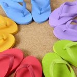 JC Penney flip flops just $.80 per pair!