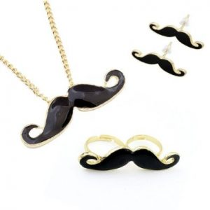 mustache-jewelry-set