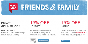 walgreens-friends-family-sale