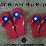 Flip Flops for $.50 plus DIY Flower Flip Flops!