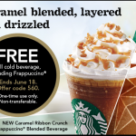 FREE Starbucks Cold Beverage