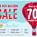 Gymboree's Big Red Balloon Sale: prices start at $.99!