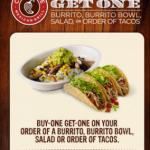 Chipotle BOGO free coupon!