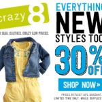 Crazy 8 save an extra 20% off sale!