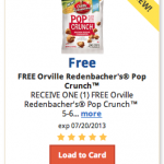FREE Orville Redenbacher Pop Crunch for Kroger shoppers!