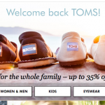 TOMS Shoes as low as $18.99!