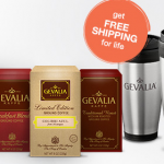 4 boxes of Gevalia Coffee or Tea and 2 Stainless Steel Travel Mugs for $14.99 shipped!