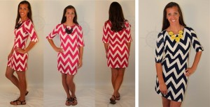 chevron-print-dress