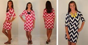 chevron-print-dress
