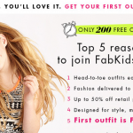 ANOTHER FabKids free outfit offer!