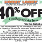hobby lobby coupon entire purchase