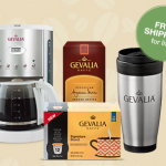 Gevalia Coffeemaker, 2 boxes of Coffee, and travel mug for $14.99 SHIPPED!