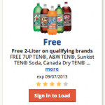 FREE 2 liter soda at Kroger stores!