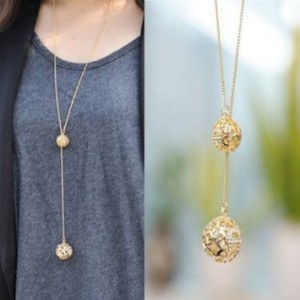 gold-hollow-double-balls-necklace