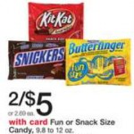 Mars and Nestle Fun Size Candy Bags just $1 each!