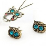 Vintage Owl Necklace and Earrings for $.99 shipped!