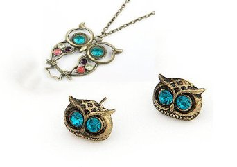 owl-necklace-earrings