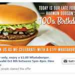 Whataburger $1 burgers today ONLY!