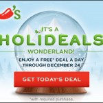 Chili's Holideals are here: new freebies every day!