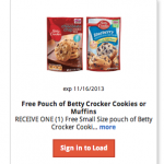 FREE Betty Crocker Muffins or Cookie Mix!