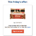 Kroger Free Friday Download:  FREE Larabar ALT or Uberbar