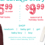 Gymboree Everything $19.99 or under sale!
