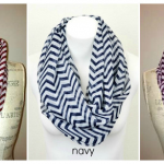 Chevron Print Infinity Scarves just $7.95 shipped!