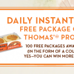 Win FREE Thomas Bagels or English Muffins!