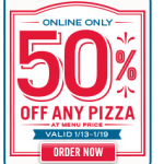 Domino's Pizza 50% off!
