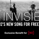 U2's NEW song Invisible FREE on iTunes!